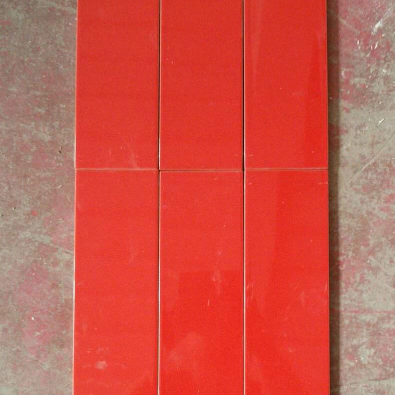 Monocottura da rivestimento rosso lucido opus for Mattonelle da rivestimento